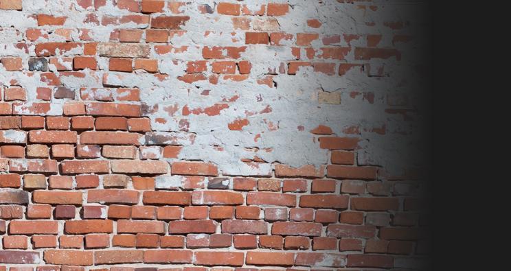 ściana zcegły
